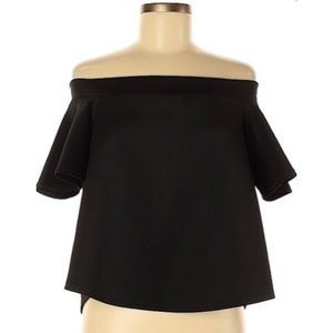 NWT Boohoo Off The Shoulder Blouse